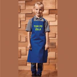 Otroški predpasnik s tiskom