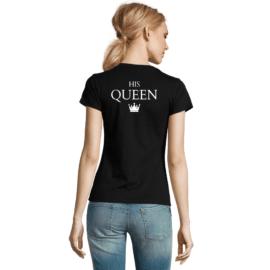 Ženska majica s tiskom His Queen