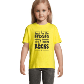 Otroška majica mom rocks