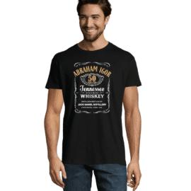 Moška majica s tiskom Abraham