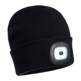 Zimska kapa z LED lučko